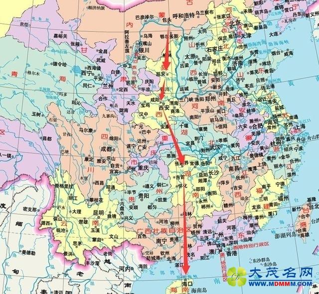 包茂高速广东地图